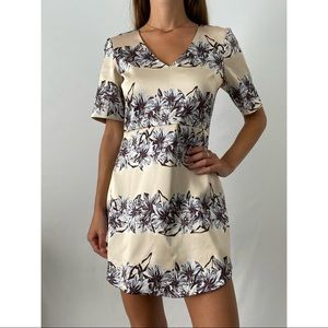 TopShop Cream Floral A Line Dress